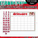SPANISH - Google Slides Calendar | December