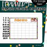 SPANISH - Google Slides Calendar | February
