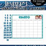 SPANISH - Google Slides Calendar | January