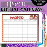 SPANISH - Google Slides Calendar | March