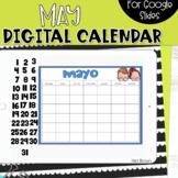 SPANISH - Google Slides Calendar | May