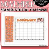 SPANISH - Google Slides Calendar | November