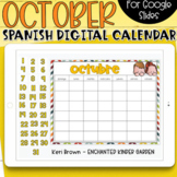 SPANISH - Google Slides Calendar | October
