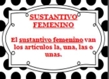 SPANISH Grammar (Carteles de SUSTANTIVOS)