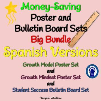SPANISH Growth Mindset/Growth Model/Student Success Sets Big Bundle