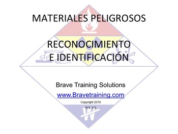 SPANISH HAZMAT TECHNICIAN RECOGNITION & IDENTIFICATION PPT TRAINING PRESENTATION