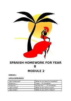 SPANISH HOMEWORK FOR YEAR 8 - MODULE 2