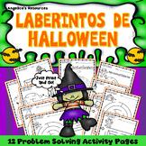 Halloween Spanish Activities: Mazes - Problem Solving -Executive Function Skills