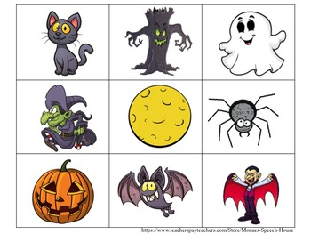 SPANISH Halloween Bingo Boards