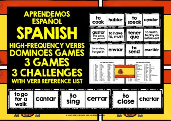 SPANISH VERBS 3 DIFFERENTIATED DOMINOES GAMES 99 VERBS (1)