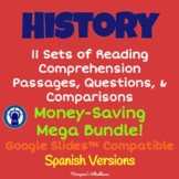SPANISH History Readings, Questions, & More Mega Bundle fo