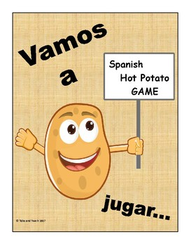 SPANISH Hot Potato Game    ESL Bilingual Ed  Test Review