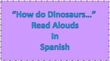 "SPANISH QR ""How do Dinosaurs.."""