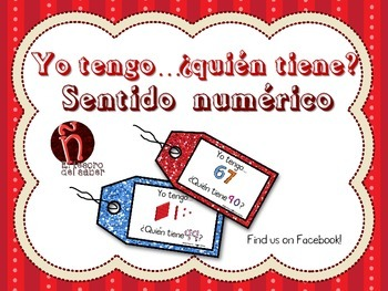 SPANISH - I have, Who has - Number Sense Math Game