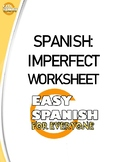 Spanish Imperfect Worksheet