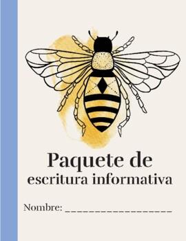 SPANISH Informational Writing Student packet - Paquete de Escritura Informativa