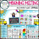 SPANISH Interactive Morning Meeting - Bitmoji