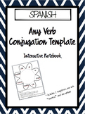 SPANISH Interactive Notebook Verb Conjugation Template