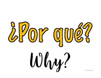 SPANISH: Interrogative Posters ESPAÑOL: Posters de Interrogaciónes