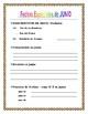 SPANISH JUNE CALENDAR  - JUNIO-  Days of the Week & Numbers & Holidays