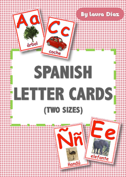 SPANISH LETTER CARDS IN TWO SIZES