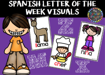 SPANISH LETTER OF THE WEEK VISUALS