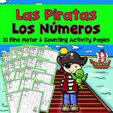 Las Piratas :  Spanish Numbers 1-20 - Tracing - Counting in Spanish -Los Numeros