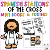 SPANISH Lent Catholic Stations of the Cross Mini Book and Posters