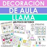 SPANISH Llama Classroom Decor Set! Over 100 pages!