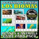 SPANISH: Los Biomas (Biomes) Plants and Animals Game Cards