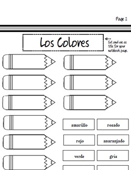 SPANISH - Los Colores Interactive Notebook & More