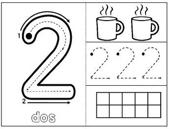 SPANISH Los números del 1 al 10 en español INTERACTIVE NOTEBOOK