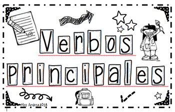 SPANISH MAIN VERBS  interactive notebook.
