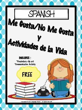SPANISH - Me Gusta/No Me Gusta y Actividades de la Vida