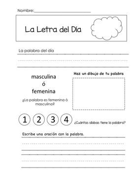 SPANISH MORNING WORK