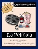 """SPANISH """"Movie Graphic Organizers"""""""