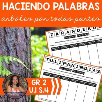 SPANISH Making Words CENTER for use with Arboles por todas partes
