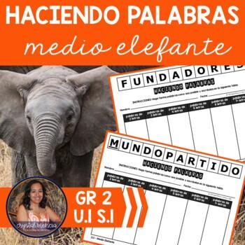 SPANISH Making Words CENTER - Medio Elefante