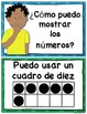 SPANISH: Math Strategy Number Posters for Kindergarten Com
