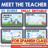SPANISH Meet the Teacher Virtual -conoce a tu profesor/pro