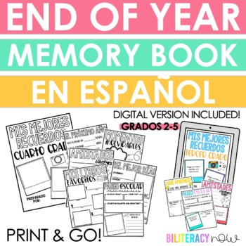 Spanish End of the Year Memory Book for Grades 2 - 5