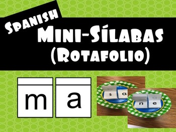 SPANISH Mini-Sílabas Rotafolio - Mini Syllables Flip Chart