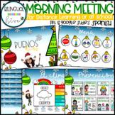 SPANISH Morning Meeting - Christmas/Winter Bitmoji