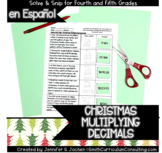 Christmas Math Activity | Spanish Math | Multiplying Decim
