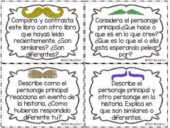 SPANISH Must-ache You a Question Reading Comprehension Task Cards