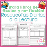 SPANISH (NO PREP) Differentiated Daily Reading Responses