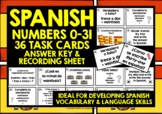 SPANISH NUMBERS 0-31 TASK CARDS