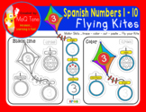 SPANISH NUMBERS 1 to 10 FLYING KITES