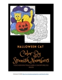 SPANISH NUMBERS - color-by-Spanish-numbers - HALLOWEEN CAT