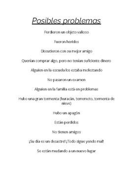 SPANISH Narrative Writing Student Packet (Paquete de Escritura Narrativa)